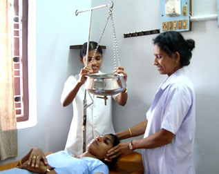 Ayurvedic Panchakarma treatment in progress
